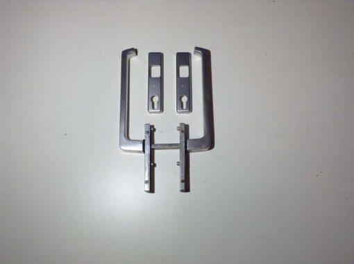 GU greep binnen/buiten met cilindergat
